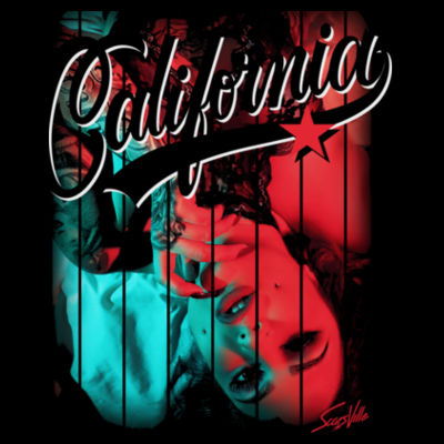 CALIFORNIA - LADIES S/S TEE - BLACK Design
