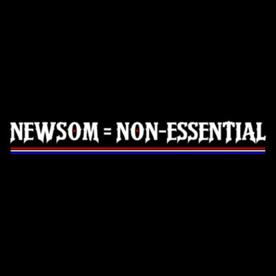 NEWSOM = NON-ESSENTIAL - PREMIUM UNISEX FACE MASK - BLACK Design