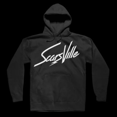 SCARSVILLE - PULLOVER HOODIE - BLACK Thumbnail