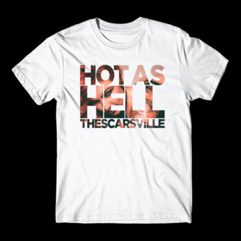 HOT AS HELL - S/S TEE - WHITE Thumbnail