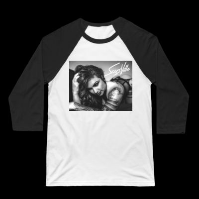 BLACK&WHITE - 3/4 BASEBALL TEE - WHITE/BLACK Thumbnail