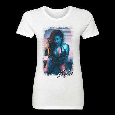 NEON - LADIES S/S TEE - WHITE Thumbnail