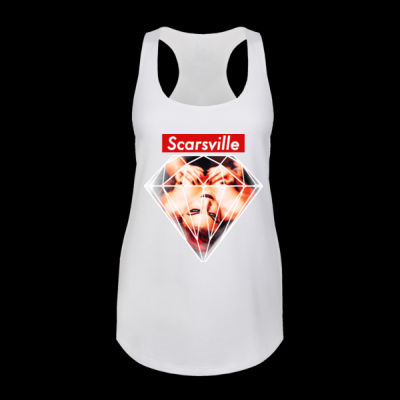 SUPREME SCARS - LADIES RACERBACK TANK - WHITE Thumbnail