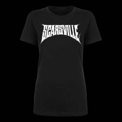 SCARSVILLE LOGO - LADIES S/S TEE - BLACK Thumbnail