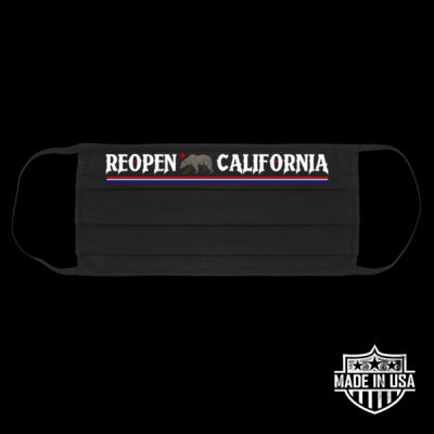 REOPEN CALIFORNIA - PREMIUM UNISEX FACE MASK - BLACK Thumbnail