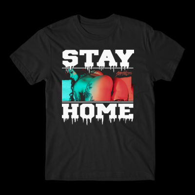 STAY HOME - PREMIUM S/S TEE - BLACK Thumbnail